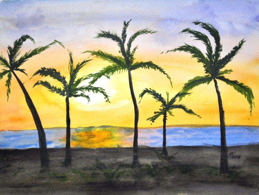 Sunset Palms, April 2018