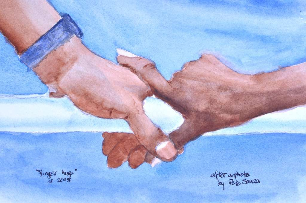 Finger Hug, September, 2018