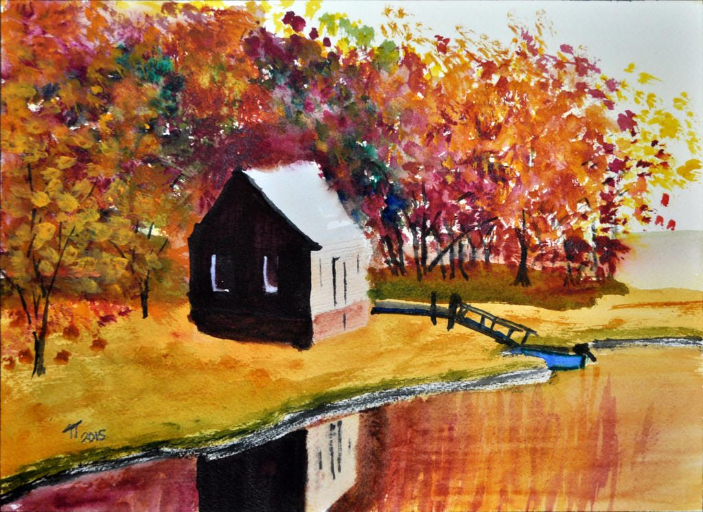 Autumn Colours, Hunting Shack by the Lake, October, 2015