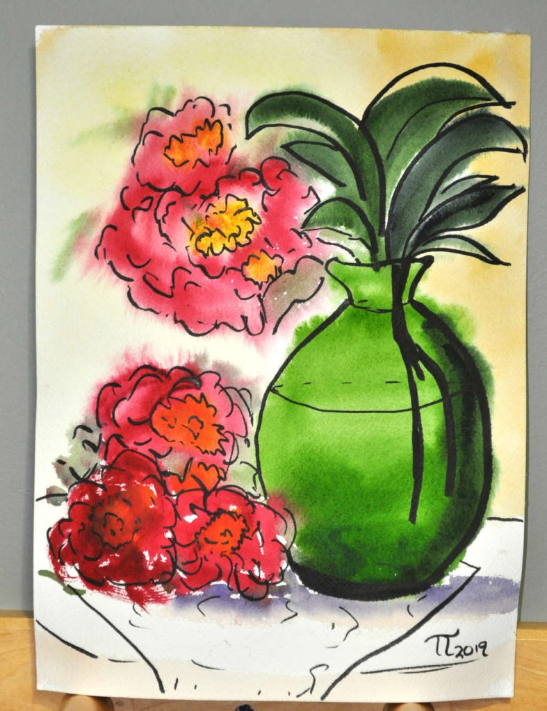 2019-05-14-green-vase-and-peonies-wet-on-wet-002-inked-signed