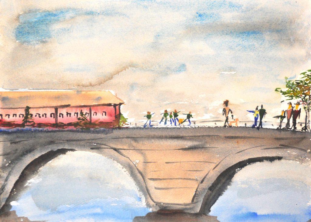 Figures on a Bridge