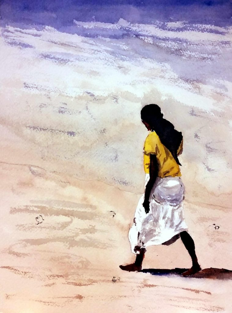 Figure on the Beach