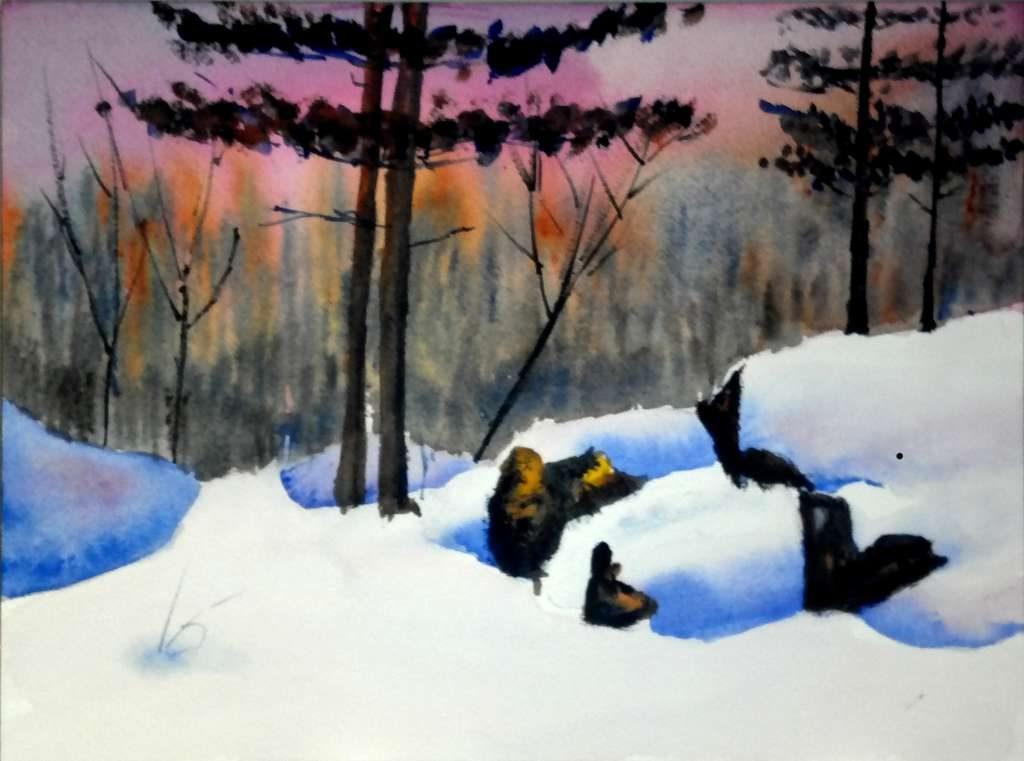 Zoltan Szabo exercise, Snow Scene