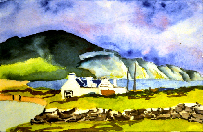 Irish Countryside, post card
