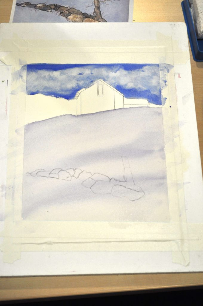 001.sky-with-clouds-and-snowy-hill